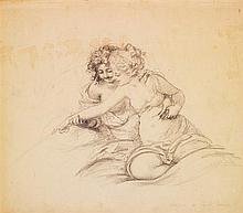 Émile Becat (1885-1962) Couple Crayon sur papier Signé en bas à droite 21 x 23,5cm