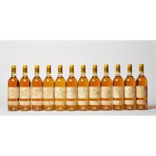 12 bouteilles Château D'YQUEM, 1° cru supérieur Sauternes 1988 CB, ELT