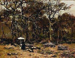 [ 19th Century Art ] Louis-Alexandre CABIE (1853-1939) Peintre sur le motif