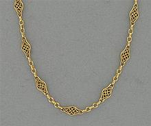 A gold chain from the nineteen century