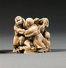 An ivory okimono, signed. Japan, Meiji period. H. 5,1 cm (2 in.)