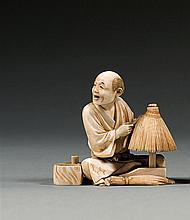 An ivory okimono, signed Yusei. Japan, Meiji period. H. 6,3 cm (2 1/2 in.)