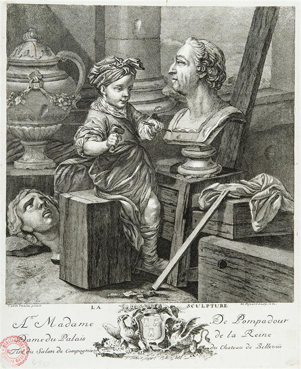 ÉTIENNE FESSARD LA SCULPTURE, d'après C. Van Loo.