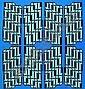 GEORGES CONNAN 1912-1987 Composition sur fond bleu, circa 1970 Acrylique sur papier marouflé sur toile, signé en bas à droite..., Georges Connan, Click for value