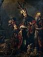 Claude VIGNON  (Tours 1593 – Paris 1670) Crésus et Solon Toile 130 x 98 cm Restaurations Provenance :  Collection privée, Château de...
