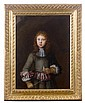 Attribué à Constantin NETSCHER (1668 – 1723) Portrait de jeune homme aux rubans Cuivre 37 x 28 cm Restaurations Dans un cadre en noy...