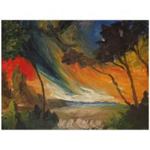 Heinrich Nüsslein (1879-1947) Sans titre, 1927 Oil on panel; dated on the back 29 3/8 x 39 3/8 in