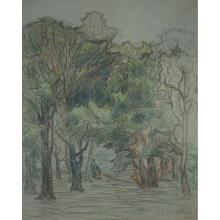 Emmanuel Victor Auguste Marie de la Villéon (1858-1944)Étude d'arbres, 1895