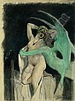 Félicien Rops (1833-1898) La Tentation, Felicien Rops, Click for value