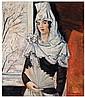 Natalia Sergeevna Goncharova (1881-1962)  L'espagnole à la mantille Huile sur toile Signée en bas à droite Oil on canvas Signed lowe...