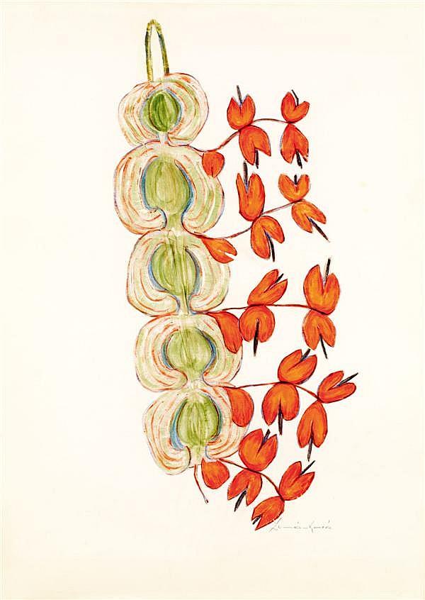 Anna ZEMANKOVA (1908-1986) Sans titre Technique mixte sur papier Signée en bas à droite 62 x 43,5 cm