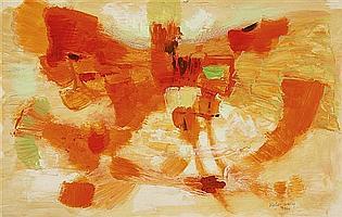 Sigismond Kolos-Vary (1899-1983) Sans titre, 1960 Gouache sur papier Signée et datée en bas vers la droite 32,5 x 51 cm - 12 3/4 x ...