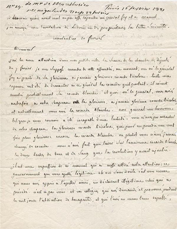 François-Certain de CANROBERT. 1809-1895. Maréchal de France du Second Empire. 44 L.A.S. au Lt-général, général puis maréchal comte ...