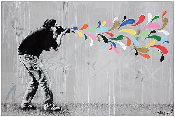Martin whatson works on sale at auction biography invaluable for Peinture acrylique sur toile