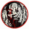Matt Small (Né en 1975) Moses, 2008 Technique mixte sur vinyle Signée au dos Mixed media on vinyl Signed on the reverse Diam : 30 cm..., Matt  Small, Click for value