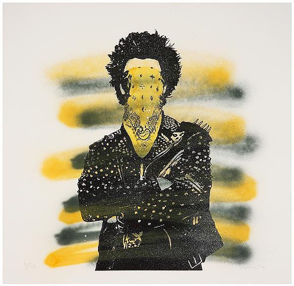Dolk (Né en 1980) Punk, 2012 Peinture aérosol et sérigraphie sur papier Numérotée en bas à gauche Signée et datée en bas à droite Va...