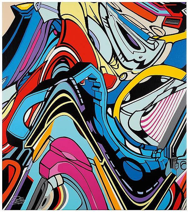 Pro176 (Né en 1976) Shadow of my mind, 2013 Acrylique sur toile Signée en bas à gauche Signée, titrée, datée et située Valencia au d...