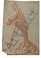 MICHEL FRANÇOIS DANDRE-BARDON (1700 - 1783) RECTO : RELIGIEUSE EN PRIÈRE VERSO : ÉTUDE DE DIEU EN GLOIRE Sanguine, estompe et rehaut..., Michel-Francois Dandre-Bardon, Click for value