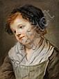 ATTRIBUÉ À JEANNE LEDOUX (PARIS 1767 - BELLEVILLE 1840) PORTRAIT DE PETITE FILLE EN BUSTE Pastel 39,5 X 30 CM Petits trous dans le b..., Jeanne Philiberte Ledoux, Click for value