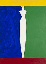 Aki Kuroda (né en 1944) Sans titre Acrylique sur papier Signée en bas à droite 73 x 54 cm à vue