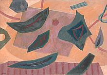 Henri Bernard Goetz (1909-1989) Sans titre Huile sur toile Signée en bas à gauche 46 x 65 cm