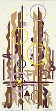 Pascal Chauveau (né en 1962) Et sur ta pierre je bâtirai mon église n°5, 2011 Acrylique et collages sur papier Titré en bas à gauche, signé et daté en bas à droite   63 x 32 cm