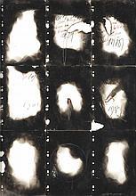 Jean-Paul Marcheschi (né en 1951) 9 nuits Encre, crayon, cire et suie sur papier Signé en bas à droite 89 x 62 cm