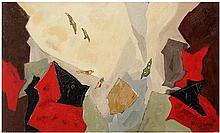 Anton Rooskens (1906-1976) Sans titre, 1970 Huile sur panneau Signée et datée 70 en bas à droite  40 x 67 cm