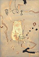 Richard Texier (Né en 1955) Ré, 1990 Technique mixte sur toile Signée, titrée et datée au dos  116 x 81 cm