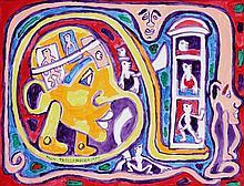 Yvon Taillandier (né en 1926) Sans titre, 1990 Gouache sur papier Signée et datée vers le bas à gauche    49 x 63,5 cm (à vue)