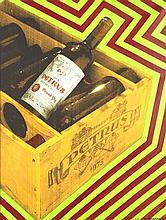 Jean-Claude Bordage (Né en 1944) Petrus, 2003 Huile et sérigraphie sur toile Numérotée 2/5, signée et datée 03 en bas à droite 118 x 91 cm
