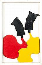 Claude Gilli (né en 1938) Coulée n°3, 1968 Huile sur panneau découpé Signée, datée et titrée au dos 48 x 30,5 x 4 cm