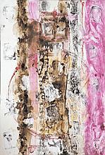 Patrick Lara (né en 1961) Sans titre, 2003 Technique mixte et collages sur toile Signé et daté 03 en bas vers la droite 174 x 118 cm