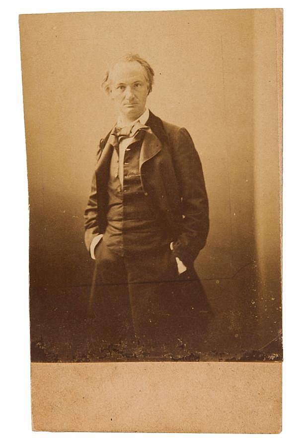 Felix Tournachon, dit Nadar (1820-1910) Portrait de Charles Baudelaire, vers 1880-1890 Épreuve sur papier citrate coupée à l'angle g...