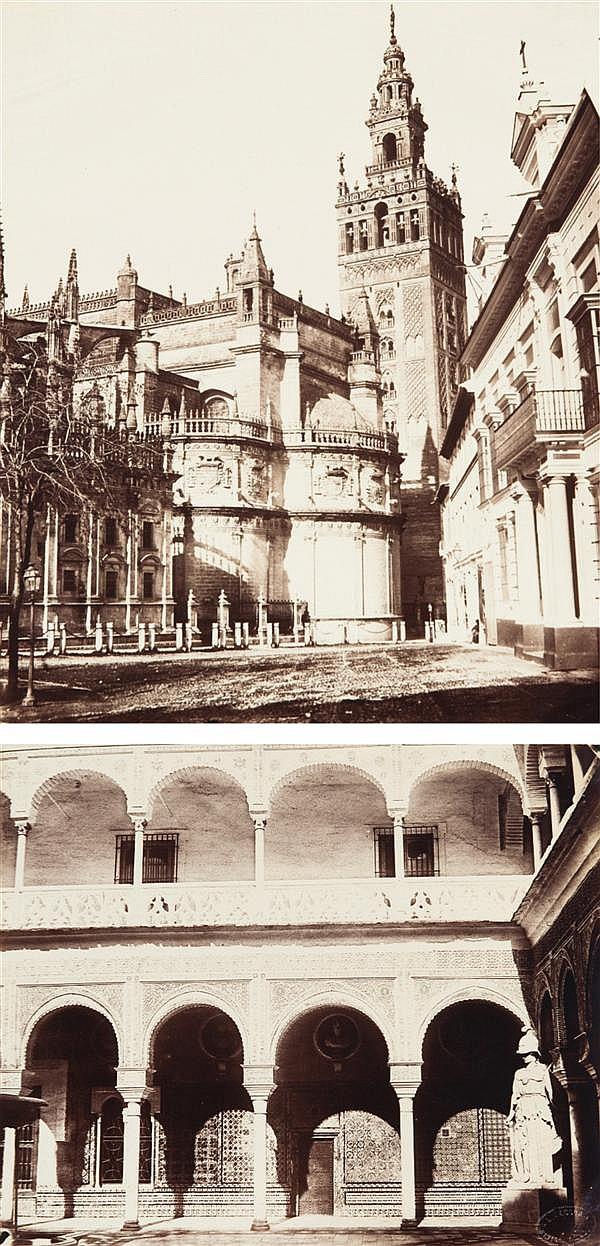 Luis Leon Masson (actif de 1858 à 1874) Espagne, vers 1855 -1860 Album de 120 épreuves albuminées sur Séville, Gibraltar, Valladoid...