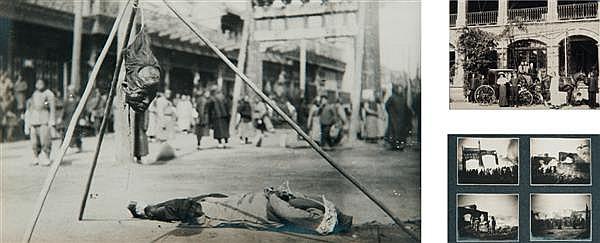 Auteur non identifié Chine, vers 1900 Album d'environ 130 épreuves argentiques et sur papier citrate, retraçant le séjour à Pékin d'...