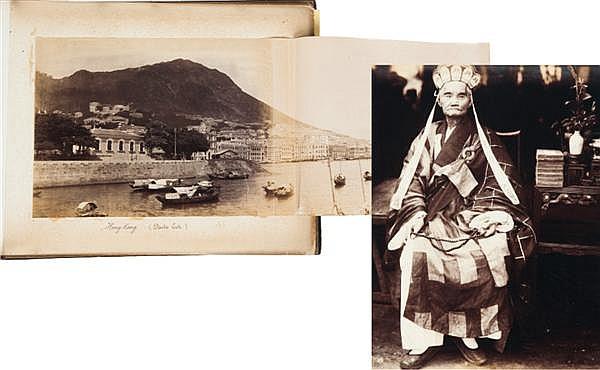Auteur non identifié Hong-Kong, Laos, Cambodge, Vietnam, Siam, Égypte, vers 1870-1880 Album d'environ 50 épreuves albuminées (paysag...