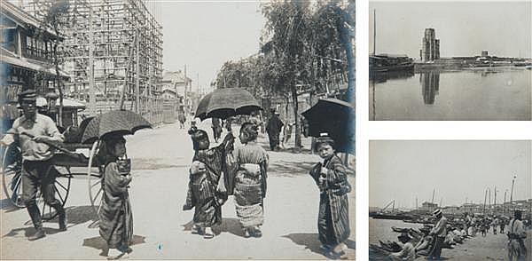 Auteur non identifié Album de voyage, vers 1901 (Canada, Japon, Chine dont les ruines de la révolte des boxeurs à Tien-Tsin et Port ...