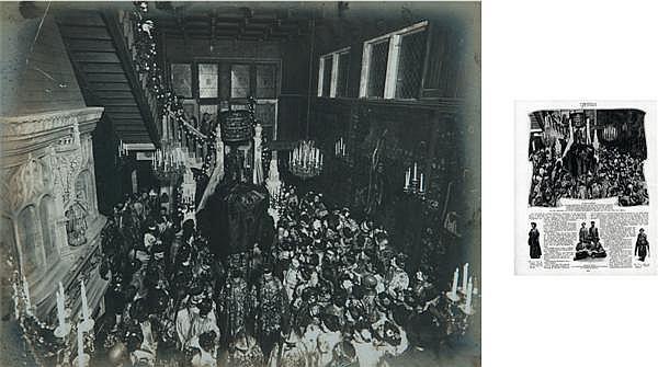 Auteur non identifié PIERRE LOTI DONNE UNE FÊTE SINO-JAPONAISE, À ROCHEFORT LE 11 MAI 1903 Épreuve argentique, montée sur carton 17,...
