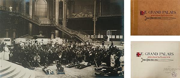 [Dr René Charles Coppin] Le Grand Palais pendant la Guerre, 1914-1915-1916 Album contenant 55 épreuves argentiques, légendées sous l...