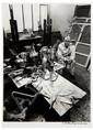 ROBERT DOISNEAU (1912-1994) Jean Dubuffet dans son atelier, vers 1950 Épreuve argentique postérieure, signée à l'encre sous l'image ...
