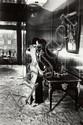Helmut Newton (1920-2004) Mannequins, Quai d'Orsay, 1977 Tirage argentique d'époque Dédicacé et signé au dos 35,5 x 27,5 cm