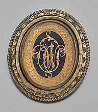 Broche miniature Le monogramme représente les initiales de Marie-Louise de Savoie Carignan, Princesse de Lamballe