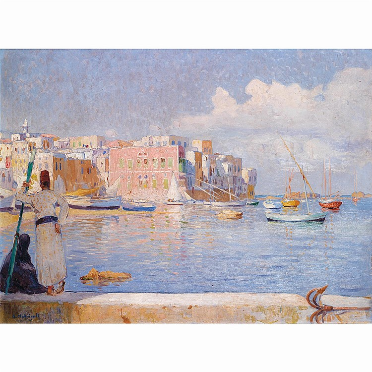 OLYNTHE MADRIGALI (1887-1950)VUE DE SAÏDA (LIBAN