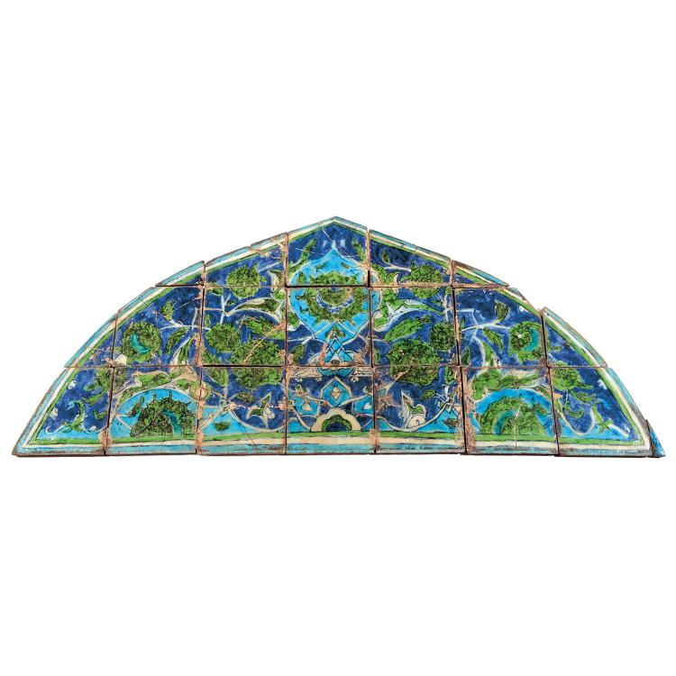 Tympan en c ramique syrie ou palestine xxe si clepanneau d - Carreaux de ceramique mural ...