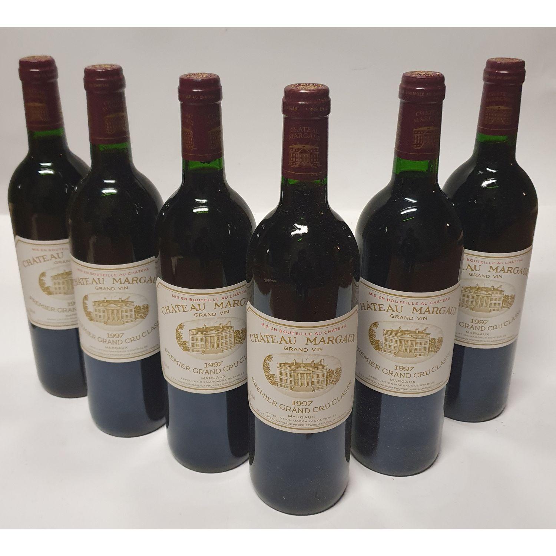6 bouteilles Château MARGAUX, 1° cru Margaux 1997 CB