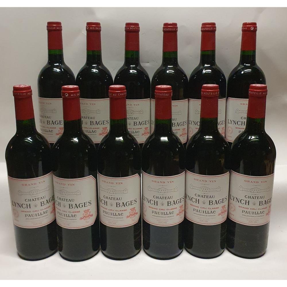 12 bouteilles Château LYNCH-BAGES, 5° cru Pauillac 1999 CB