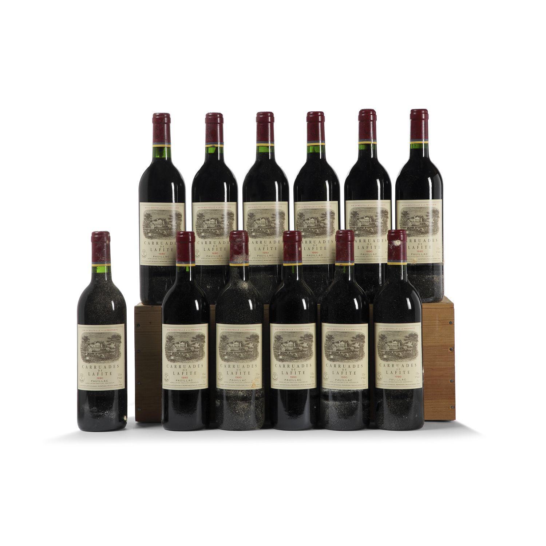 12 bouteilles CARRUADES DE LAFITE-ROTHSCHILD, Pauillac 1990 CB