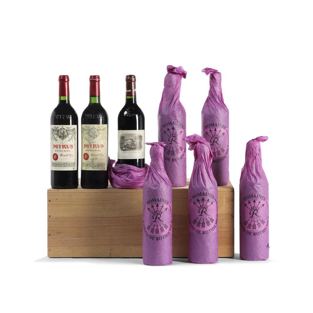 6 bouteilles Château LAFITE-ROTHSCHILD, 1° cru Pauillac 2002 CB