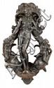 IMPORTANT MARTEAU DE PORTE en bronze fondu et ciselé de l'atelier de Tiziano Aspetti (1557-1606)